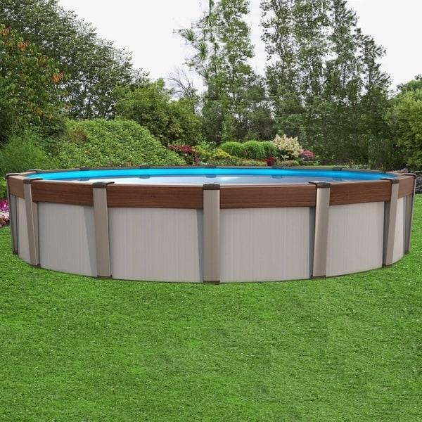 Каркасный бассейн круглой формы