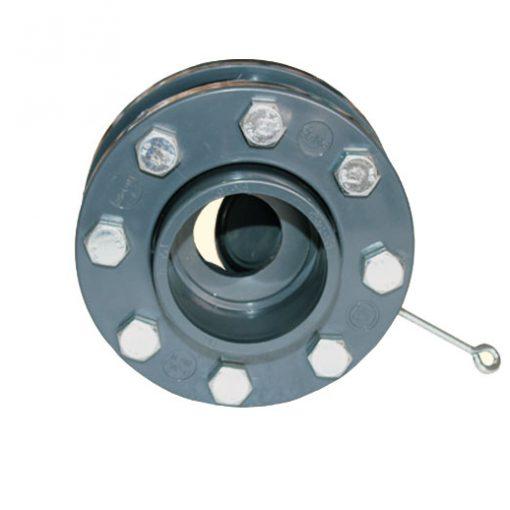 Обратный клапан с фланцами язычковый Coraplax