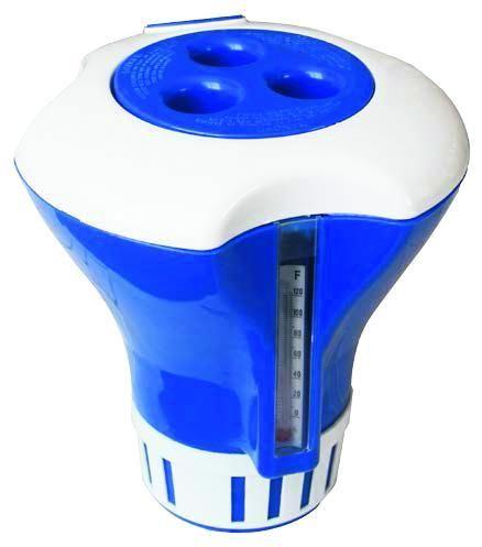 Плавающий дозатор Poolline с термометром